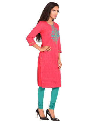 Suti Womens Cotton Jaquard Cotton Jaquard Loing, French Rose