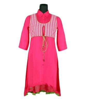 Suti Womens 100 % Viscose Tunic Dress, French Rose
