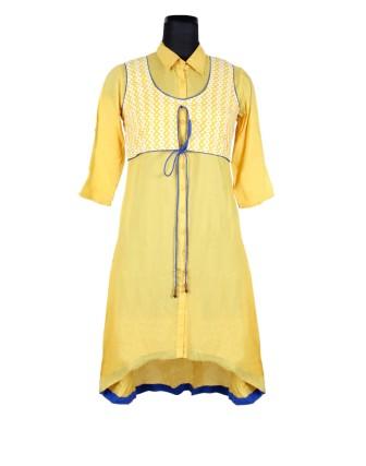 Suti Womens 100 % Viscose Tunic Dress, Golden Poppy