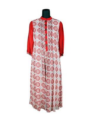 Suti Womens 100 % Viscose Womens Georgette Dress, Rust