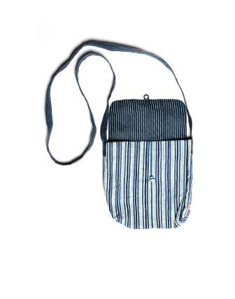 Suti Womens Cotton Sling Bag, Indigo Blue