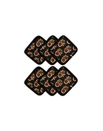 Suti Womens Cotton Tea Coaster Set