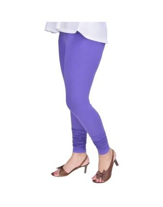 Suti Womens Plain Churidhar Leggings, African Violet