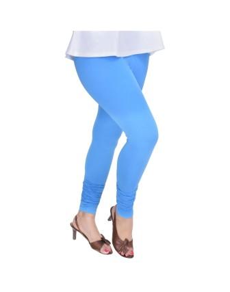 Suti Womens Plain Churidhar Leggings, Airforce Blue