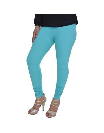 Suti Womens Plain Churidhar Leggings, Aqua