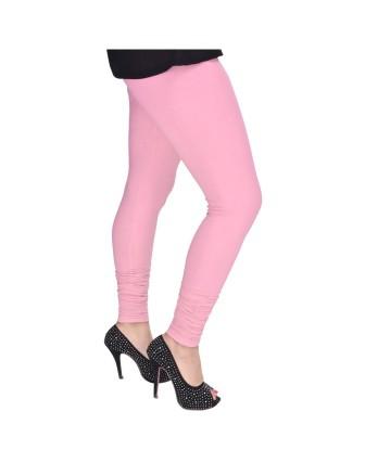 Suti Womens Plain Churidhar Leggings, Baby Pink