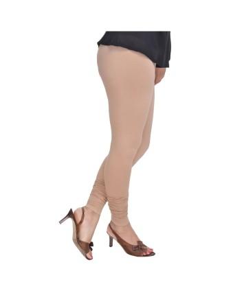 Suti Womens Plain Churidhar Leggings, Beige