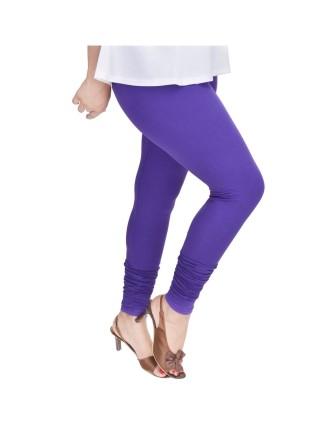 Suti Womens Plain Churidhar Leggings, Blue Violet