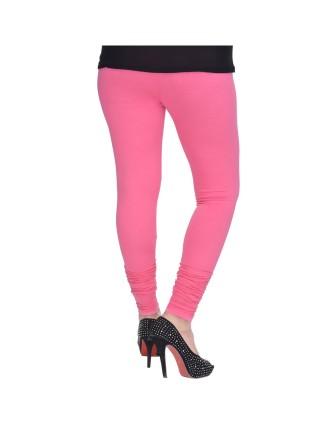 Suti Womens Plain Churidhar Leggings, Brink Pink