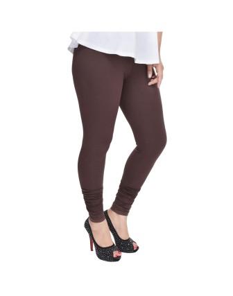 Suti Womens Plain Churidhar Leggings, Brown