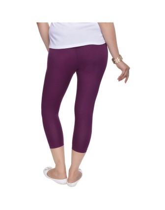 Suti Womens Plain 3/4 Length Leggings, Wine