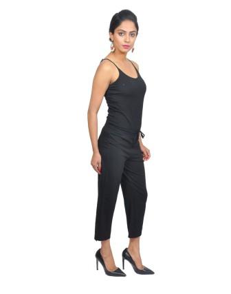 Suti Womens Cotton Lycra Capri Pant, Black