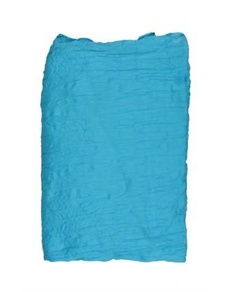 Suti Womens Chiffon Plain Dupatta With Lace, Aqua