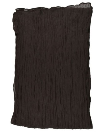 Suti Womens Chiffon Plain Dupatta With Lace, Brown
