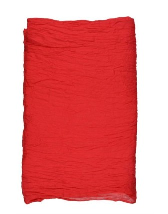 Suti Womens Chiffon Plain Dupatta With Lace, Poppy Red