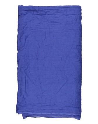 Suti Womens Chiffon Plain Dupatta With Lace, Royal Blue