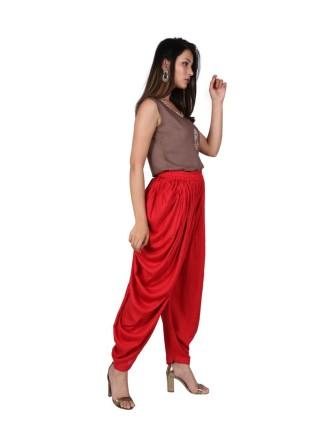 Poppy Red Dhoti Patiyala