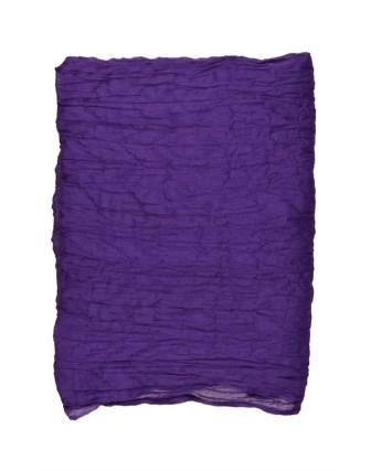 Suti Womens Cotton Plain Dupatta With Lace, Blue Violet