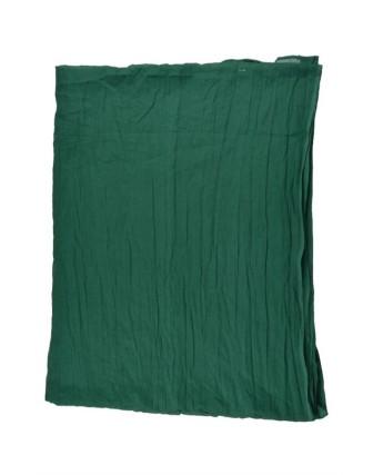 Suti Womens Cotton Plain Dupatta With Lace, Dark Green