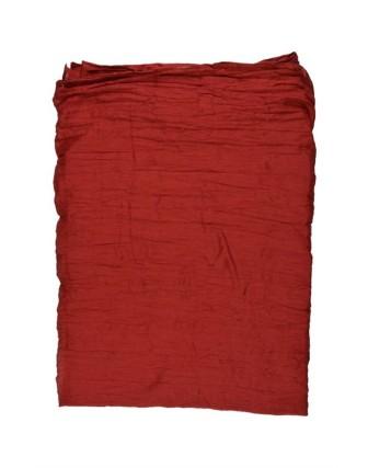 Suti Womens Cotton Plain Dupatta With Lace, Dark Maroon