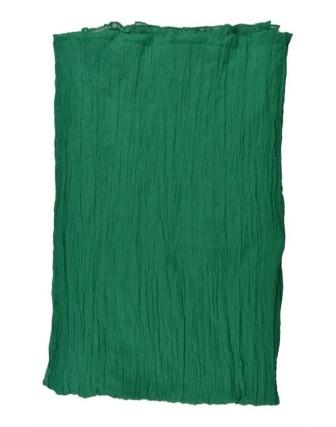 Suti Womens Cotton Plain Dupatta With Lace, Emerald Green