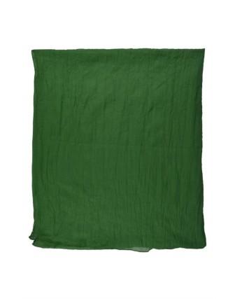 Suti Womens Cotton Plain Dupatta With Lace, Hunter Green