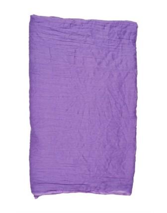 Suti Womens Cotton Plain Dupatta With Lace, Kashmir Violet
