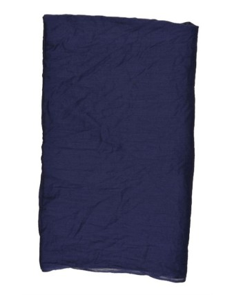 Suti Womens Cotton Plain Dupatta With Lace, Navy Blue