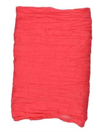 Suti Womens Cotton Plain Dupatta With Lace, New Coral