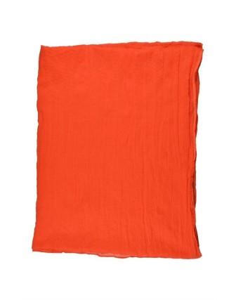 Suti Womens Cotton Plain Dupatta With Lace, Orange