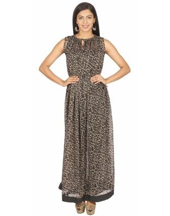 Black_brown Long Dress