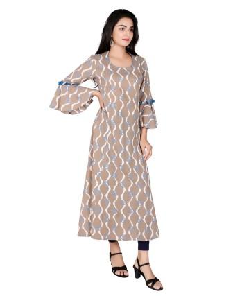 Suti Womens Cotton A Line Fit Dress, Kashish