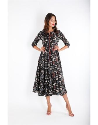 Black Round Neck Long Dress