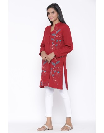 Suti Womens Rayonflex Regular Fit Jacket, Maroon