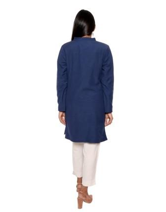 Suti Womens Rayonflex Regular Fit Jacket, Navy Blue