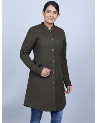 Suti Womens Rayonflex A Line Fit Jacket, Hedge Green
