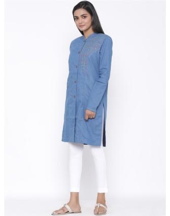Suti Womens Denim P Line Fit Jacket, Denim