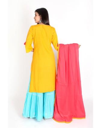 Suti Womens Rayon Flex Straight Fit Combo, Mustard