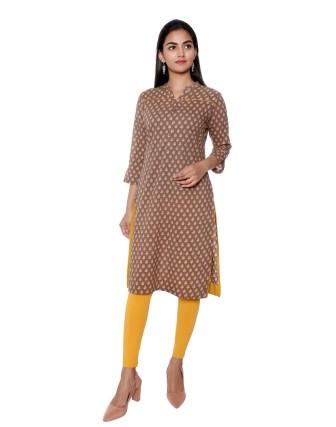 Suti Womens Cotton Flower Print Short Kurti, Kashish