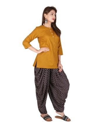 Suti Womens Cotton A Line Fit Top, Bagru Green