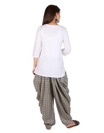 Suti Womens Cotton A Line Fit Top, White