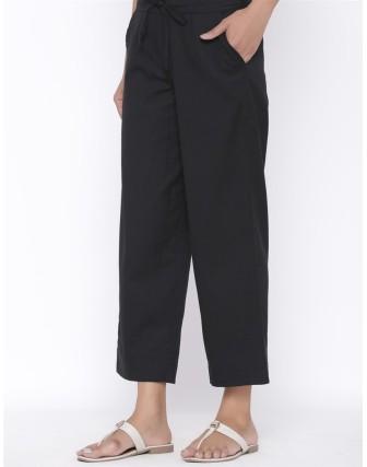 Suti Womens Cotton Flex Culottes, Black