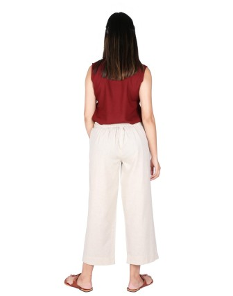 Suti Womens Cotton Flex Culottes, Natural