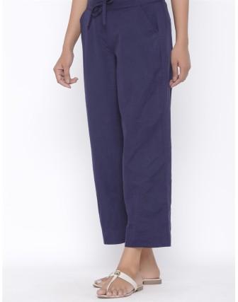 Suti Womens Cotton Flex Culottes, Navy Blue