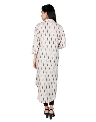Suti Womens Cotton A Line Fit Tunic, Fawn