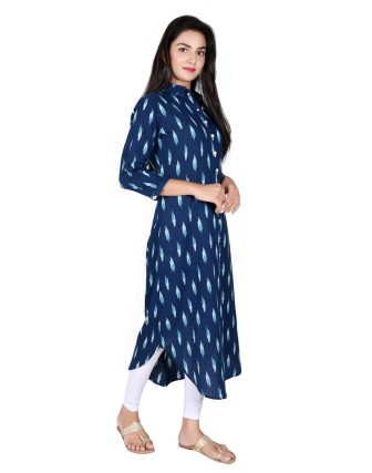Suti Womens Cotton A Line Fit Tunic, Navy Blue