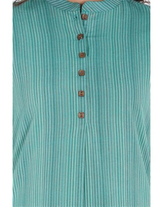 Suti Women`s Cotton Yarn Died Straight Fit Tunic